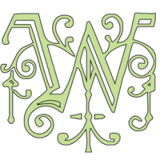 """Whitworth Stained Glass logo - """"W"""""""