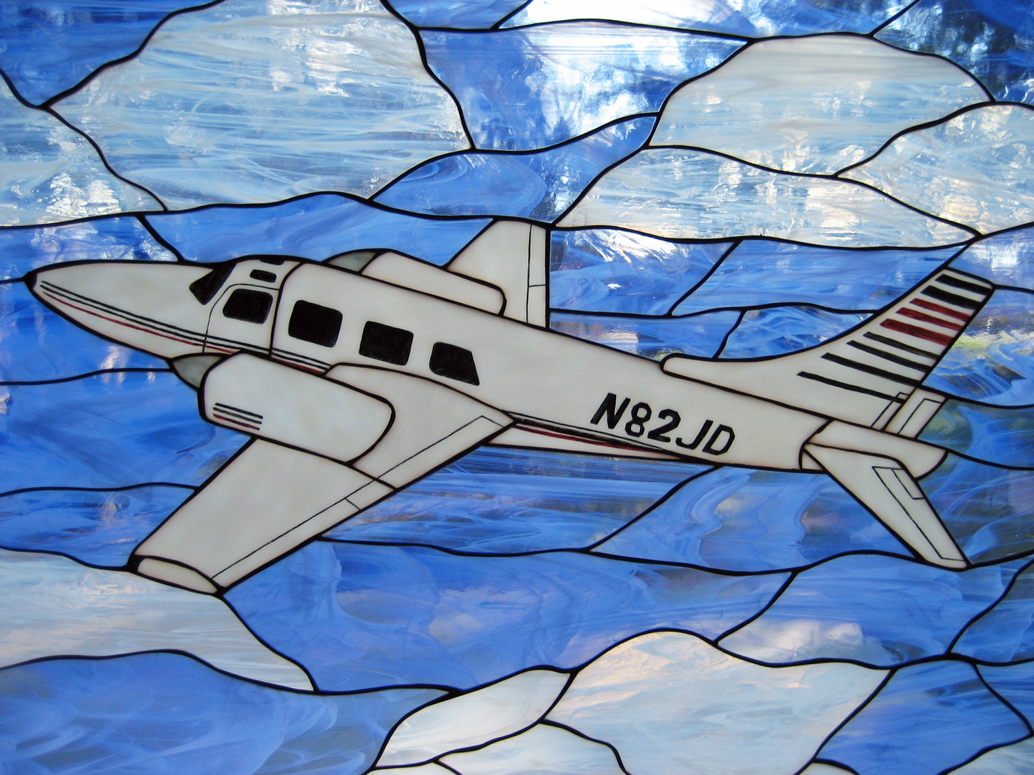 Residential Stained Glass - Airplane