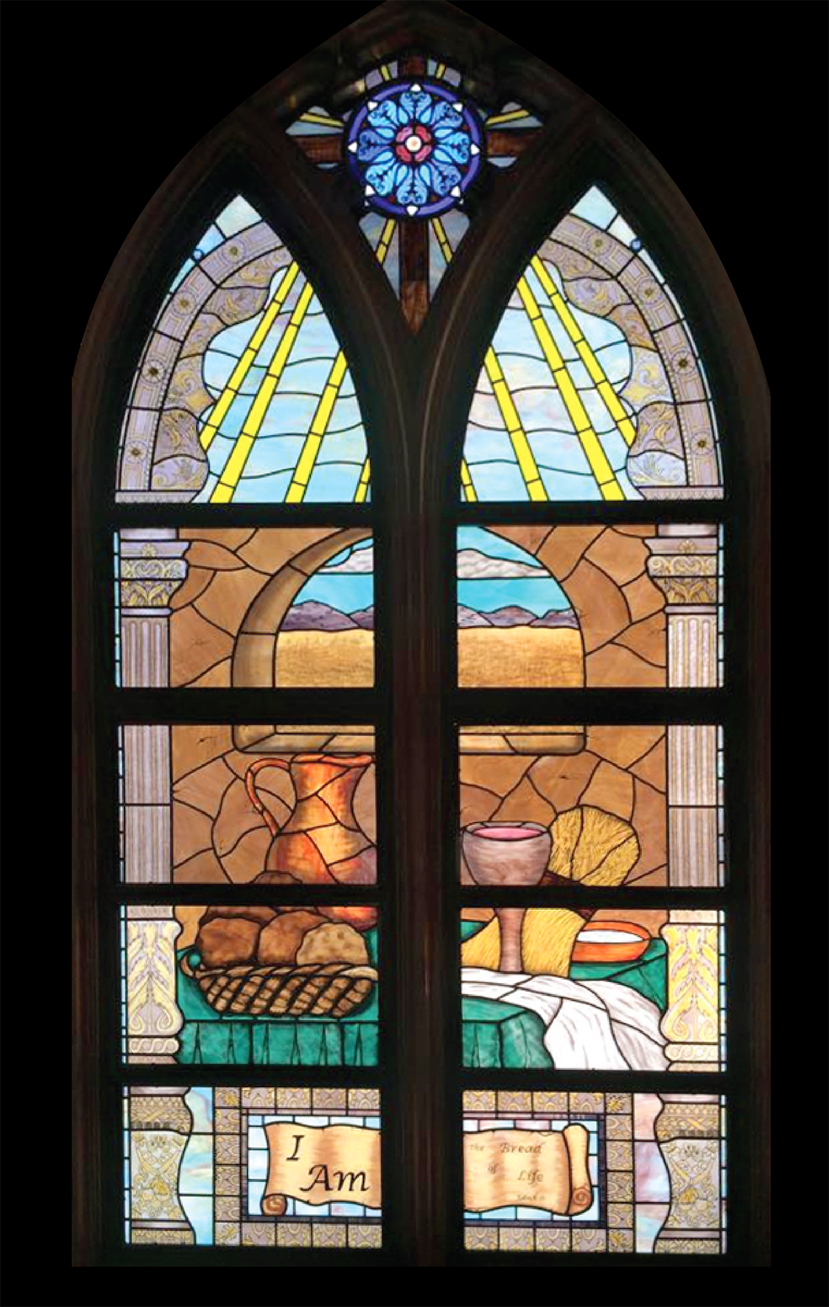 Stained Glass At First United Methodist Church - New Braunfels, TX