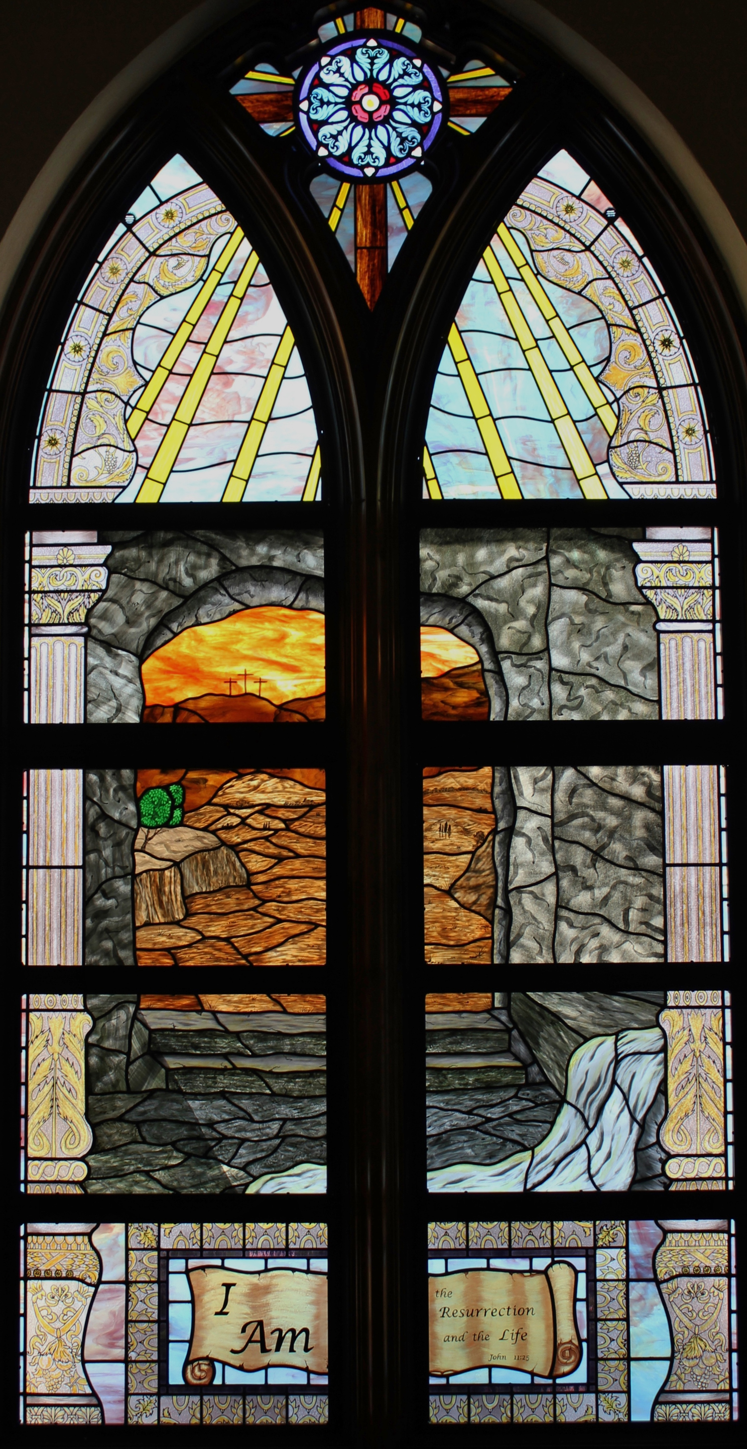Stained Glass At First United Methodist Church, New Braunfels, Texas