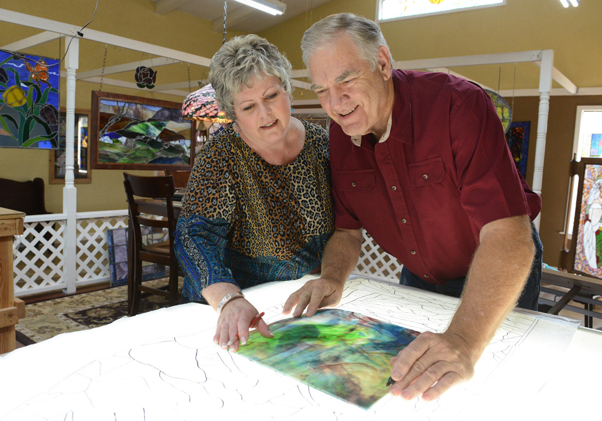 Jack and Cindy of Whitworth Stained Glass - New Braunfels, TX
