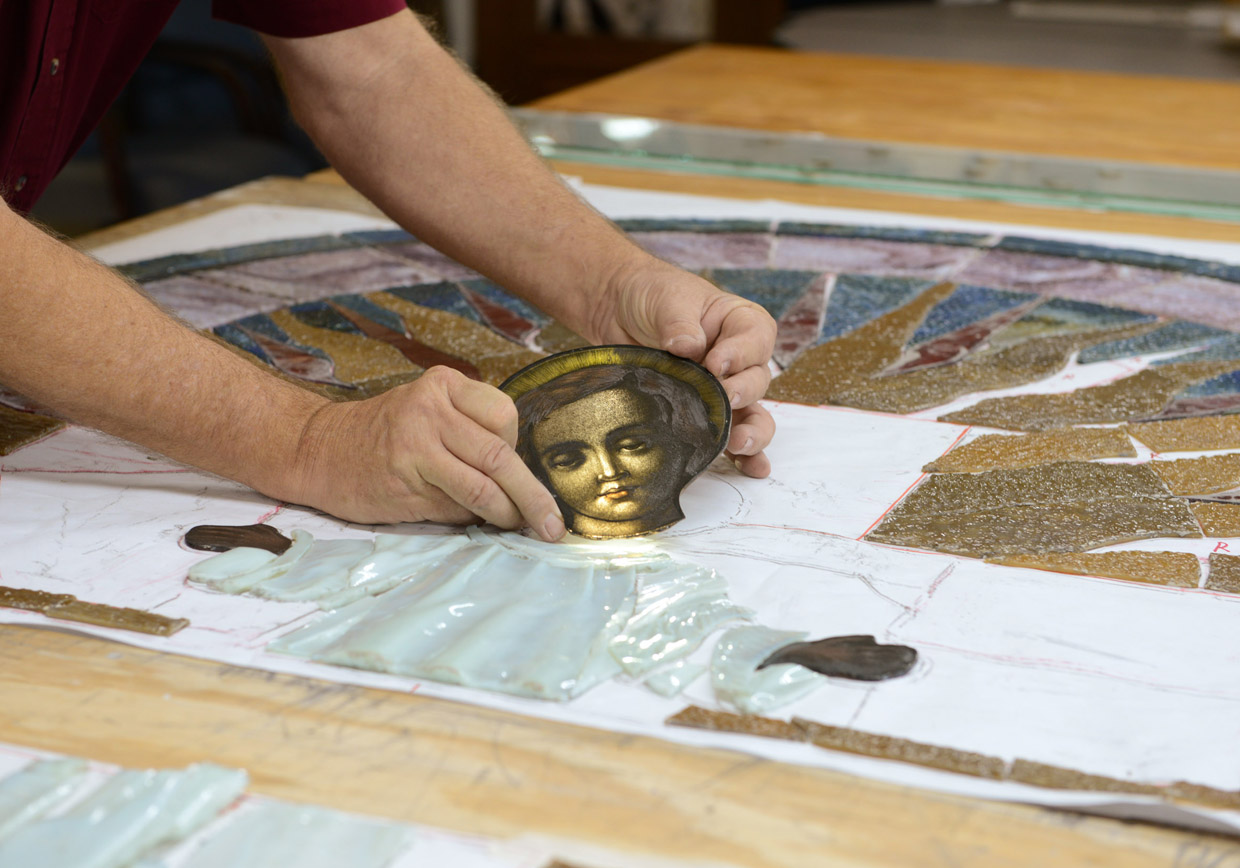 Stained Glass Restoration Close-up