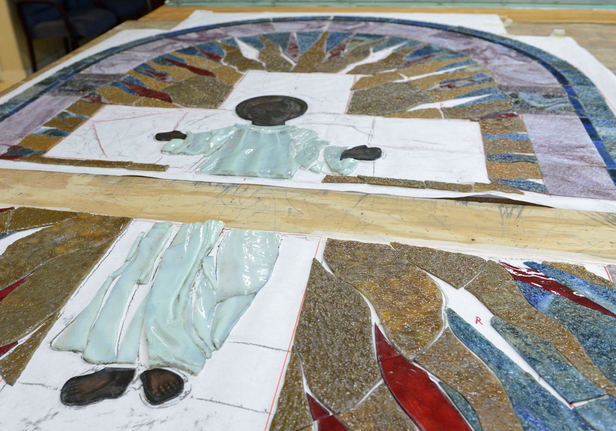Stained glass restoration - Close-up